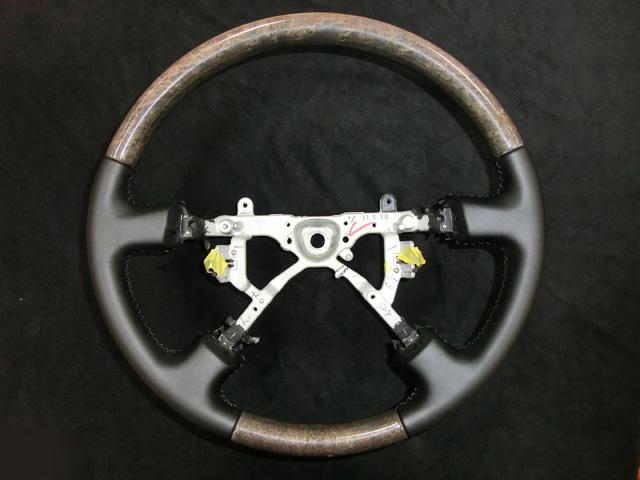 本革ステアリング巻替え トヨタ セルシオ
